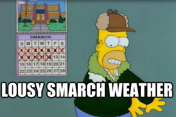 Image result for lousy smarch weather